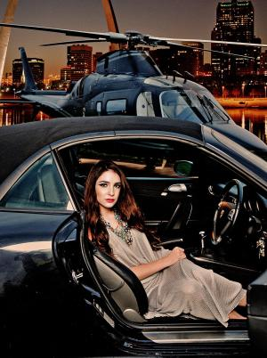 Agusta Helicopeter Porsche 911 Fashion Photography