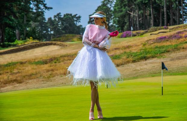 Ferrari 488 Supercar Fashion Ice Dress Worplesden Golf Course