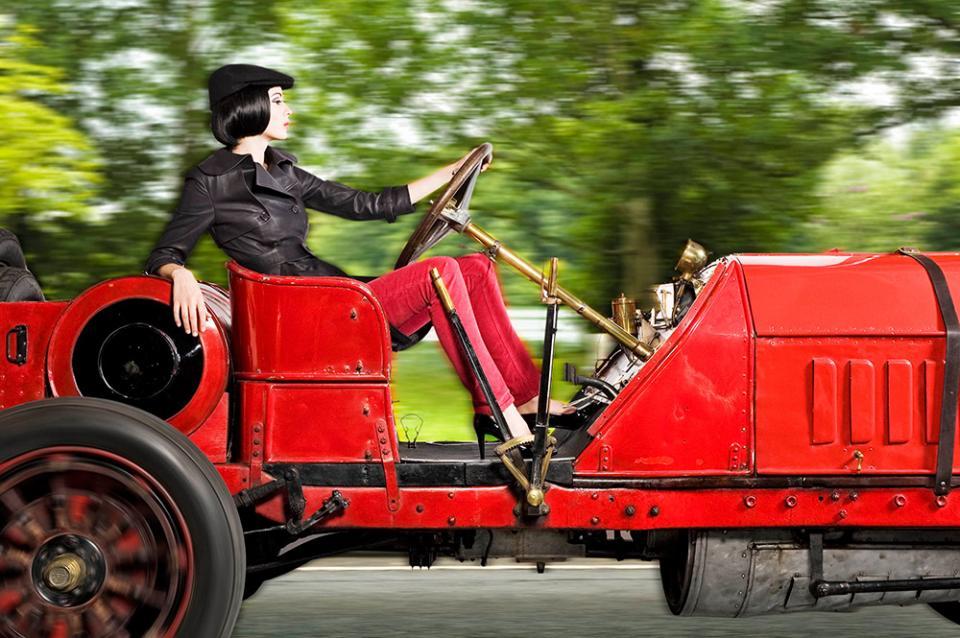 Red Itala Classic Car Fashion